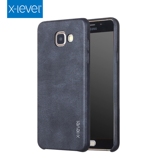 best sneakers 1733c 0cfd3 US $7.49 25% OFF|X Level Vintage Leather Case For Samsung Galaxy A7 2017  A720F/DS Cases Back Cover For Samsung A7 2016 A710F/DS Dual Sim Coque-in ...