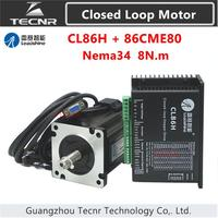 Orginal Leadshine nema34 8NM Closed loop Hybrid servo driver kit CL86H and 86CME80 stepping motor drive 86mm