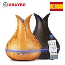 400 мл дистанционное управление ультразвуковой древесины увлажнитель ароматерапия аромат эфирные масла диффузор для дома Спальня