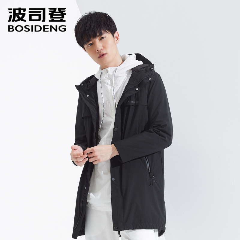 BOSIDENG nuevo abrigo de plumón para hombre invierno rompevientos ropa larga con capucha impermeable largo suelto B80132113-in Plumíferos from Ropa de hombre    3