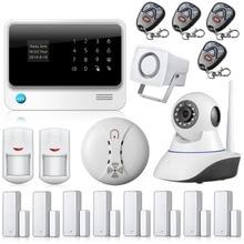 Chuangkesafe GSM WIFI Сигнализация Беспроводной Безопасности Smart GPRS Домашней WI-FI, RFID Сигнализация матч с Ip-камеры Наблюдения