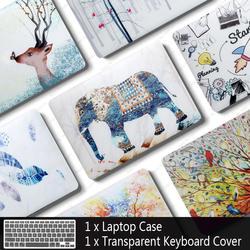 Новый чехол для ноутбука Apple MacBook Air Pro retina 11 12 13 15 mac book 13,3 дюймов с сенсорной панелью рукав в виде ракушки + крышка клавиатуры