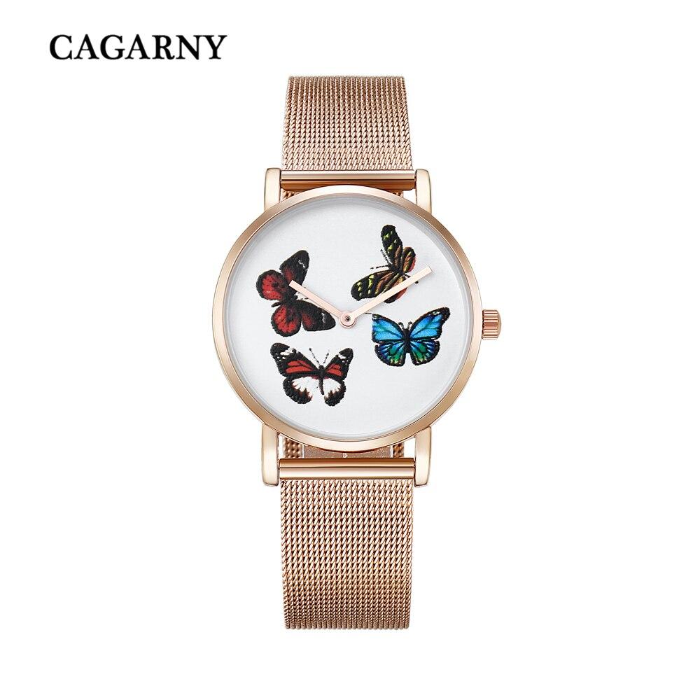rose gold watch for women luxury brand cagarny womens quartz watches girl watch drop shipping (9)