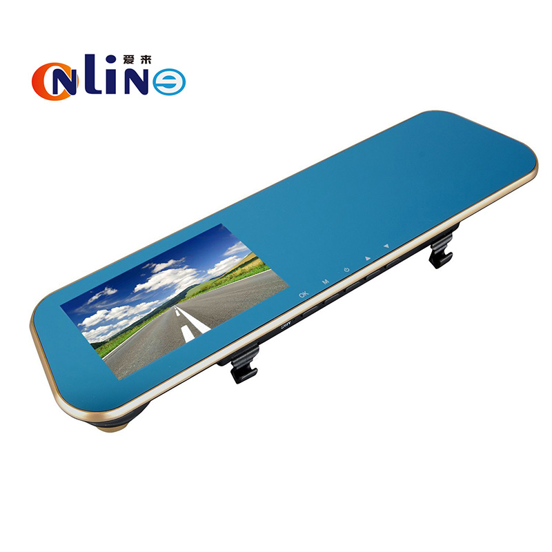 Online HD 1080P Blue screen Car Dvr Camera Auto 4 3 Inch Rearview Mirror Digital Video