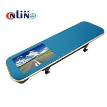 Online / HD 1080P Blue screen Car Dvr Camera Auto 4.3 Inch Rearview Mirror Digital Video Recorder HD Lens Registratory Camcorder