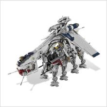Lis 05053 Star series Wars 1788pcs Republic Dropship with AT-OT Walker Model Building blocks Bricks Compatible 10195 LepinINGLYS