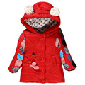 2017 New Girl Winter Jackets Coats warm baby girl  Down Kids jacket Children Outerwear casual hooded clothes