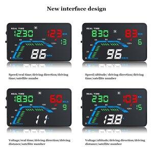 Image 4 - Q7 ユニバーサル車のgps hudスピードメーターカーエレクトロニクスQ700 obdヘッドアップディスプレイフロントガラスプロジェクターセキュリティアラームドライビング
