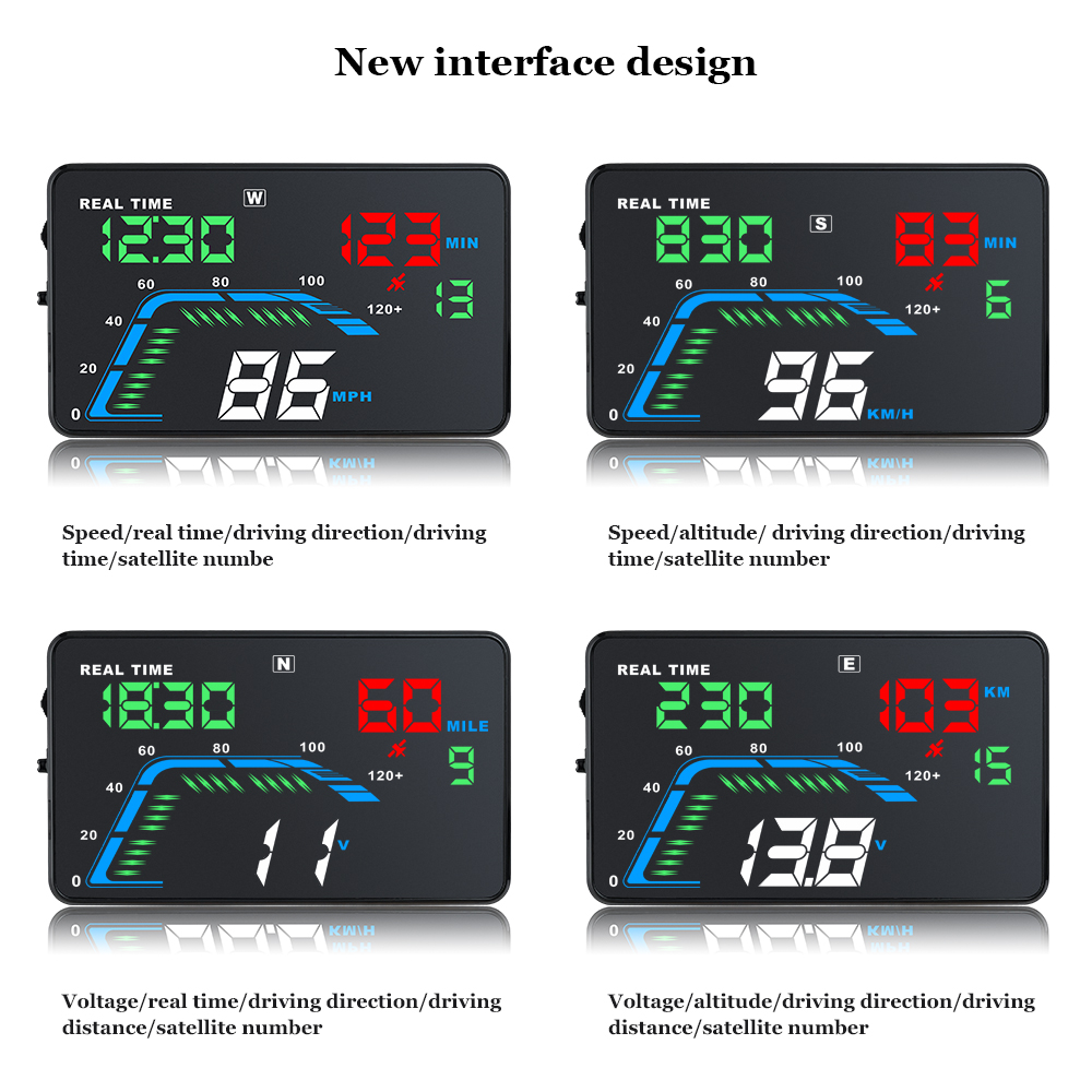 Image 4 - Universal Car GPS HUD Q7 GPS Speedometer Car Electronics Q700 OBD Head Up Display Projector Velocimetro Digital Free Shipping-in Head-up Display from Automobiles & Motorcycles