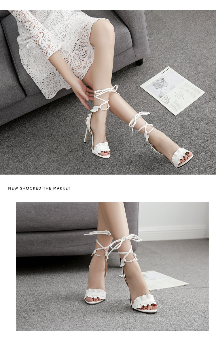 HTB1PVw0X5YrK1Rjy0Fdq6ACvVXaL LTARTA 2019 Top Sale Sandals Women's sandals Fish-mouth Lace-crossed High-heeled Shoes PLUS SIZE 43 11.5cm heels ZL-8888-17