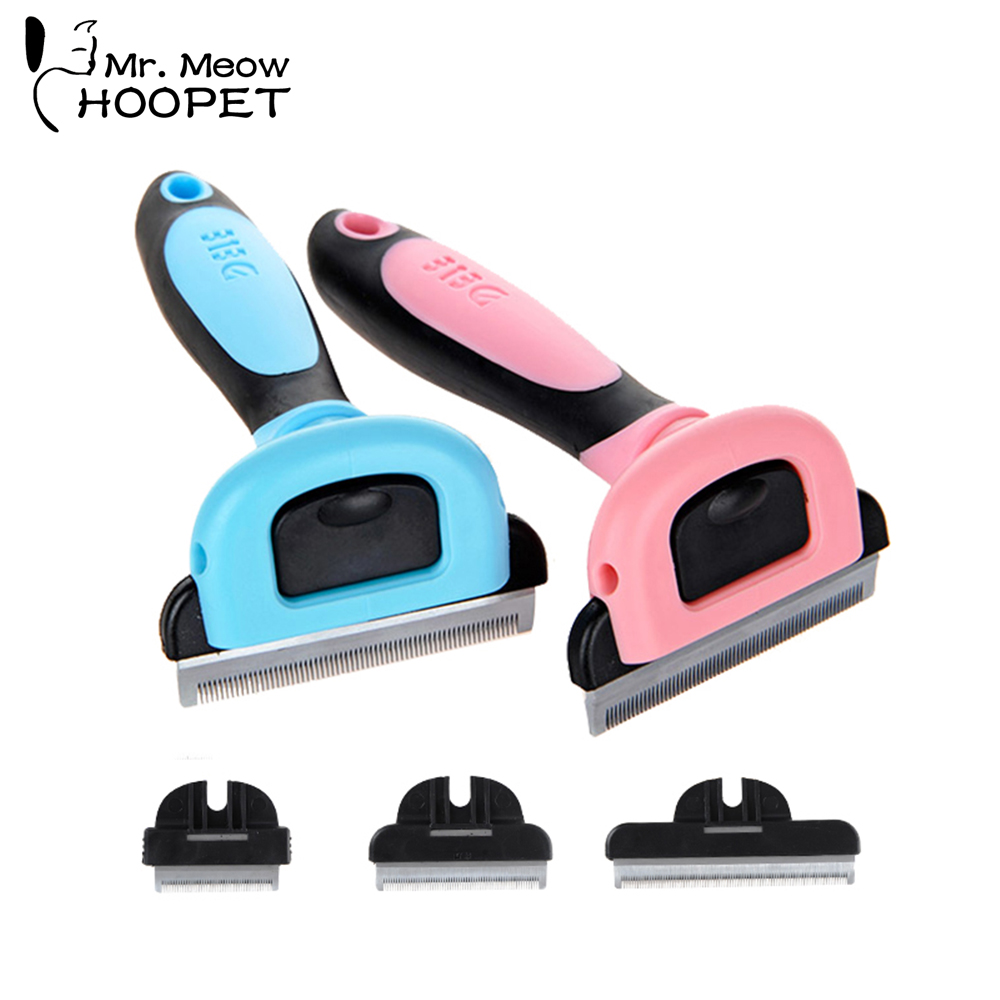 Hoopet Pet Dog Cat Hair Comb Brush Grooming Supply Massage Bath Comb Puppy Kitten Shedding Hair Remover Brush