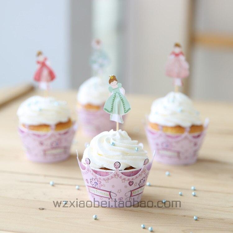 60 conjuntos envoltura de la Magdalena + Topper pastelitos embalaje ...