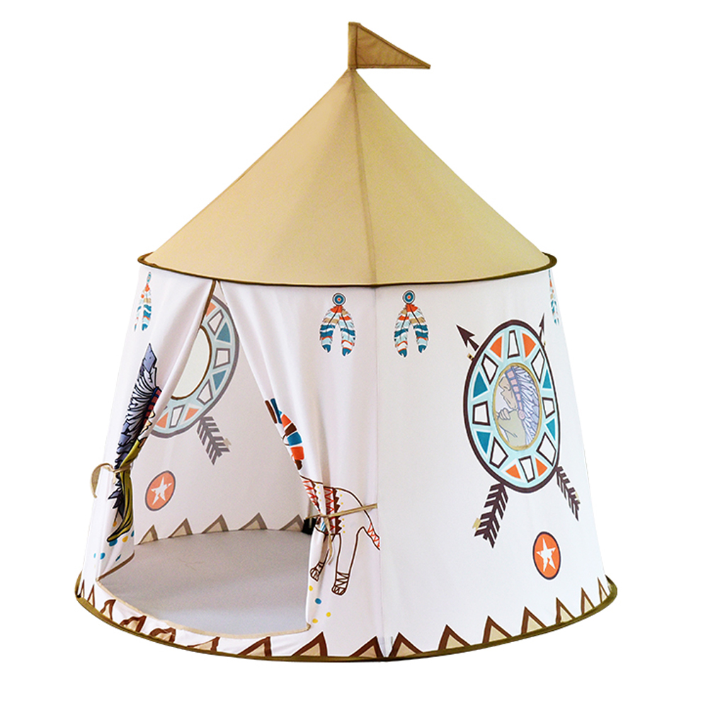 YARD Kids Tent Inidian Style Baby Portable Princess Castle Play Children Teepee Tent Children's Tent Playhouses for Kids