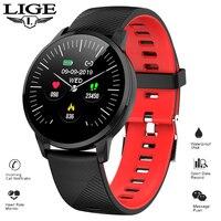 LIGE 2019 New Smart Bracelet Sport Wristband Waterproof fitness tracker Smart watch Heart rate Blood pressure Monitor Smart Band