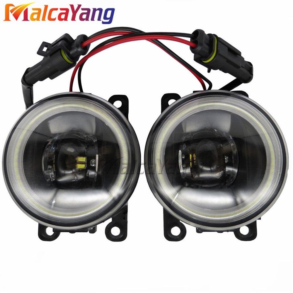 For Dacia Logan Duster Sandero 2004-2015 Angel Eyes High Brightness Fog Lamp Assembly LED Fog Lights 1SET