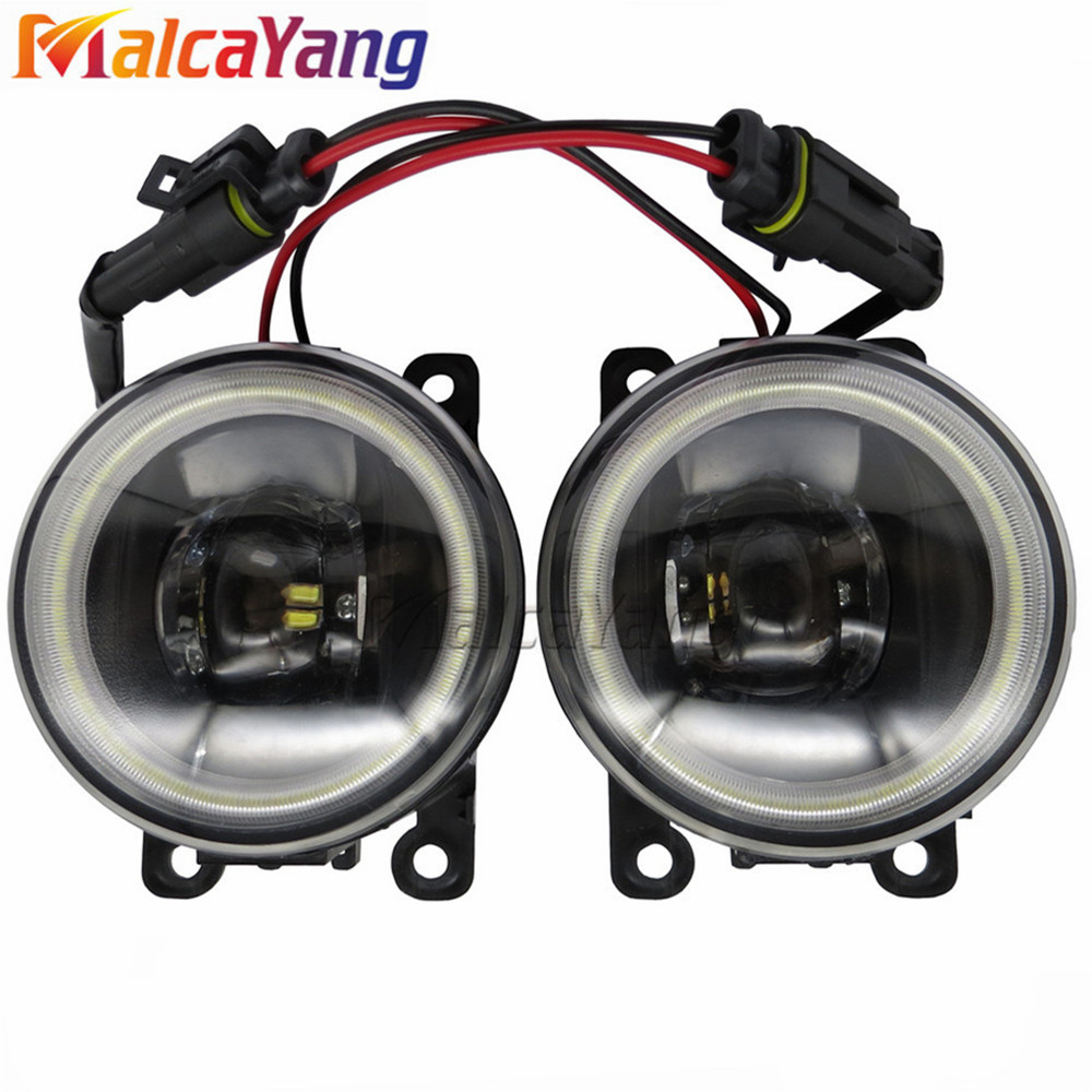 For Dacia Logan Duster Sandero 2004 2015 Angel Eyes High Brightness Fog Lamp Assembly LED Fog Lights 1SET