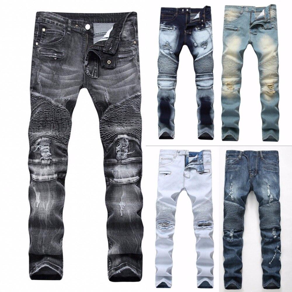 2018 модные хип-хоп патч Для мужчин ретро Джинсы для женщин до колена Rap отверстие на молнии Байкер Джинсы для женщин Для мужчин свободные тонкий уничтожены Torn Ripped джинсовые Man Джинсы для женщин