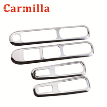 Carmilla 4Pcs/Set Car Window Lifter Panel ABS Chrome Decoration Car Styling Sticker for Peugeot 3008 2013 2014 2015 2016 Modify