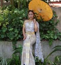 Китайская одежда для невесты dai princess таиландское свадебное