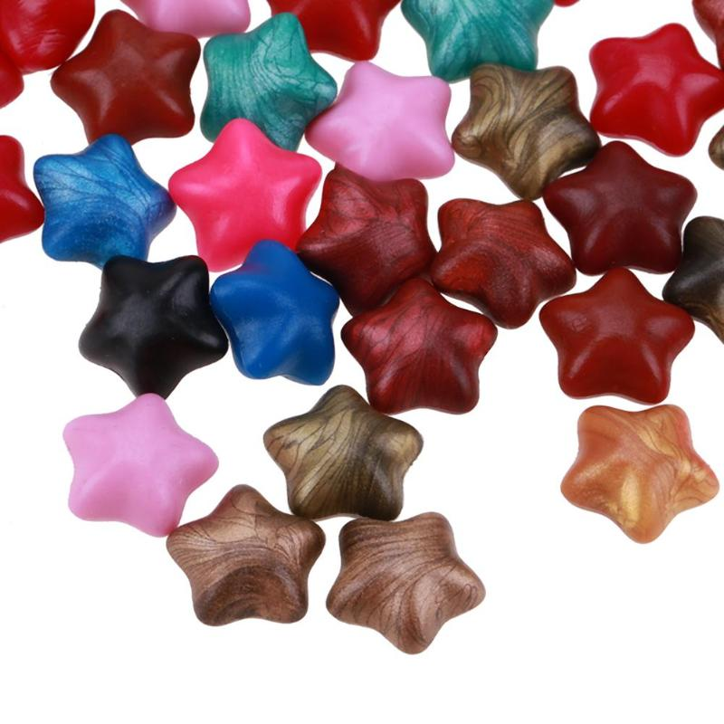 100pc Set Five Pointed Star Sealing Wax Documents Stamp Supplies 2019 DIY Multicolor Beads