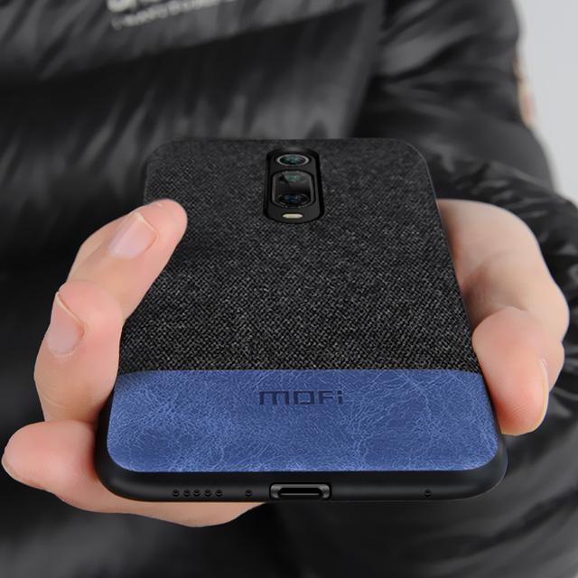 MOFi Redmi K20 Pro Luxury Fabric Design Shockproof Back Case Cover