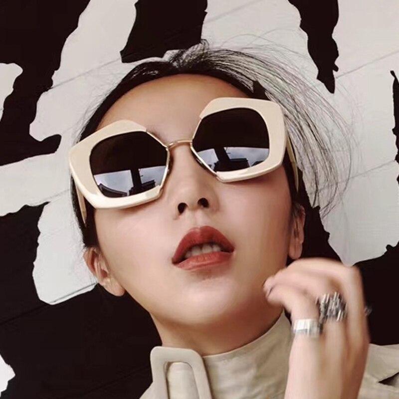 f9a93c4b3e PANDDOG glasses case and cloth Half Big Square Frame Unique Sunglasses Women  Reflective Color Film Lens WLBK97253.