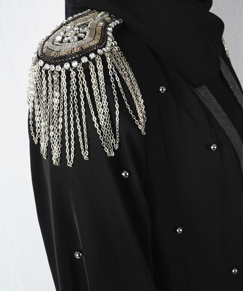Di trasporto di modo Musulmano Vestito Abaya in Dubai Abbigliamento Islamico Per Le Donne Jilbab Djellaba Robe Musulmane Turco Baju Robe Kimono Caftano 11