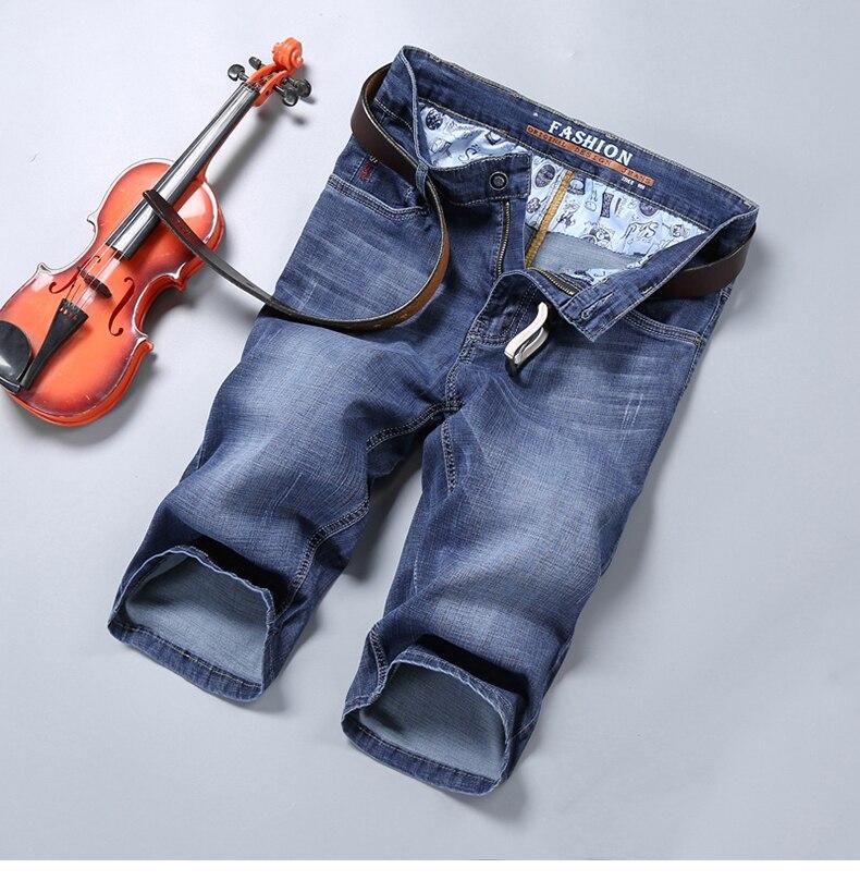 KSTUN Jeans for Men Summer Denim Short Pants Light Blue Elasticity Ultrathin Slim Fit Men's Clothes Man Jeans Brand 2018  Homme 11