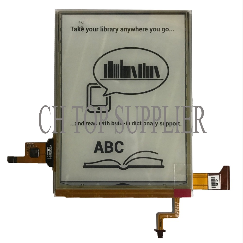 100% New display LCD Eink Carta 2 ED060XH7 for For ONYX BOOX Vasco da Gama eBook Reader 6 lcd display screen for onyx boox i63sml kopernik lcd display planel screen e book ebook reader replacement