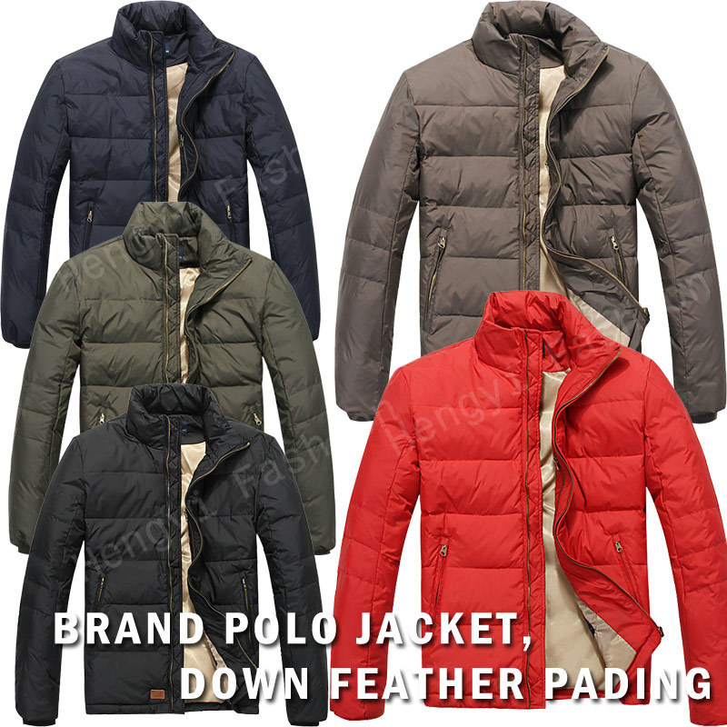 2014 Winter POLO Jackets For Men Down Coat Feather Outdoor Polo ...