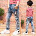New 2016 spring /autumn Male child jeans child trousers thin light color boy slim skinny pants high-quality hot sale