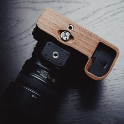 High Quality Handmade Wooden Quick Release L Plate / L Bracket Perfect fit for Nikon Z7 Z6 Hand Grip Holder