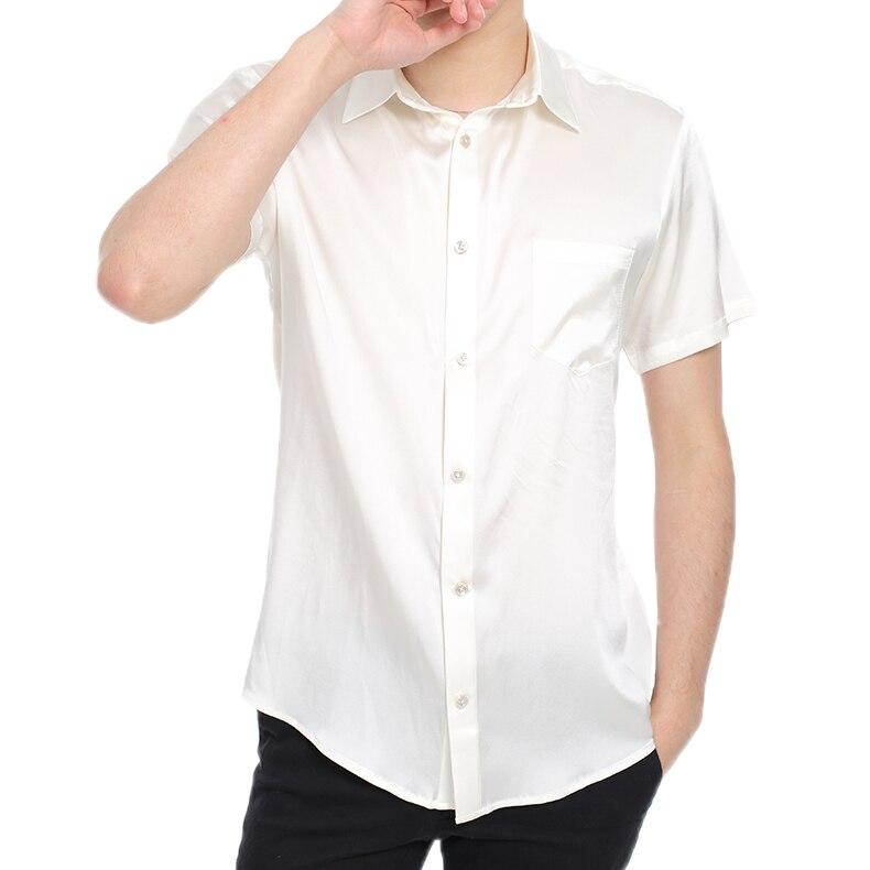 Il nuovo 2019 Della Tasca di Seta di Seta Pura Mens Camicia A Maniche Lunghe camicia di seta di estate maschio sottile di business high end - 3