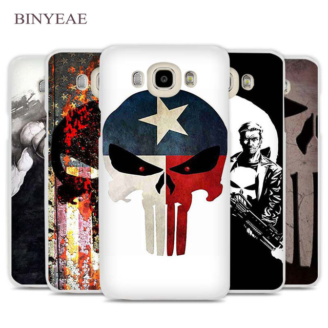 low priced 9774f 7ca26 US $1.91 34% OFF|BINYEAE the punisher skull Cell Phone Case Cover for  Samsung Galaxy J1 J2 J3 J5 J7 C5 C7 C9 E5 E7 2016 2017 Prime-in  Half-wrapped ...