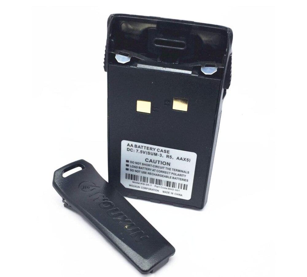 5AA Battery Case For Wouxun KG 6D 833 639P 669P 679 689 Emergency Battery Case Of OSEN KG-UVD1P Walkie-talkie