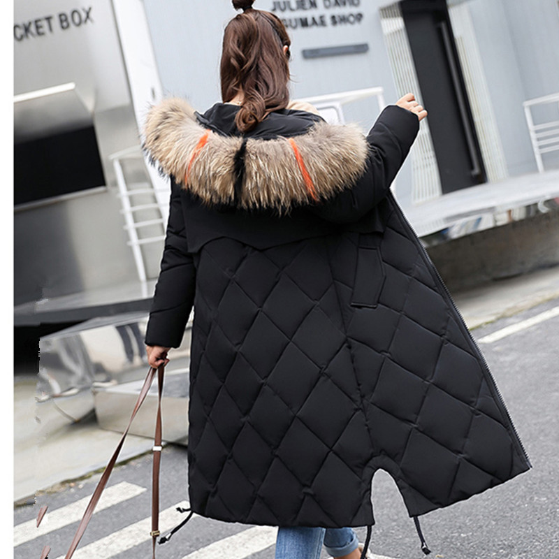 Women Winter Coat Fur Collar Hooded Female Plus Size Long Jacket for Pregnant Women Padded Parkas Maternity Snowsuit Outwear 2017 new fashion women long coat cotton padded clothes thicken winter female parkas lamb wool hooded drawstring jacket plus size page 8