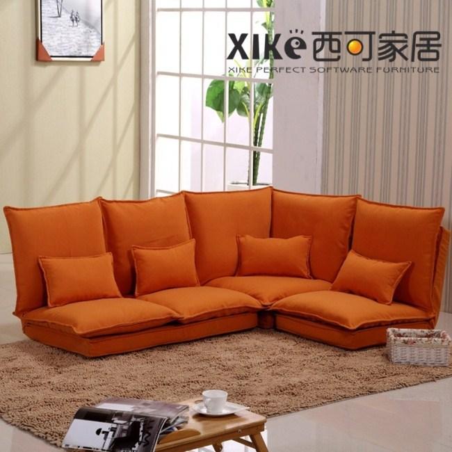 Fabric Sofa Futon Creative Lazy