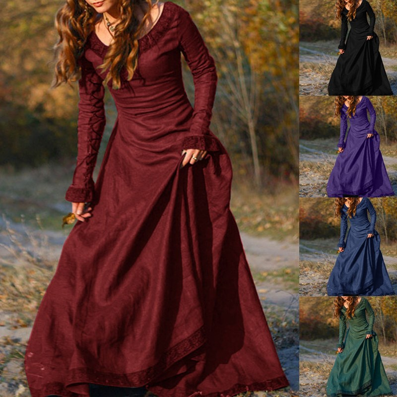 2018 Autumn Winter Maxi Long Dress Long Sleeve Classic Fashion Elegant  Evening Party Ballgown Slim Fit Vestidos Plus Size 3XL-in Dresses from  Women s ... 65d3bca79738