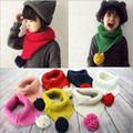 Baby Triangle Scarf Bibs winter kids boys girls bibs Clothing Accesories baby slabbers driehoek with a lovely ball bebes scarf