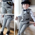 2015 New Design Kids Plaid Vest Suits for Boys Brand England Style Kids Autumn Weddings Waistcoat Suits Boys Formal Outwear,C059