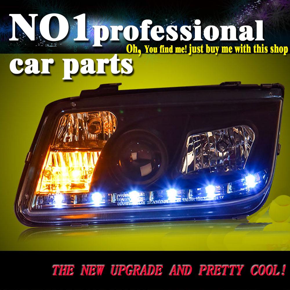Lumière OUMIAO pour VW Volkswagen Bora phare 2001-2005 phares Led phare Double ange oeil Bi xénon lentille DRL HID