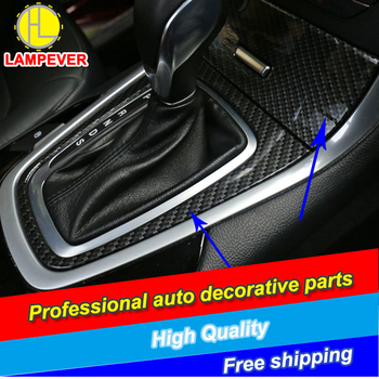 HLC Car-styling Gear Panel Handbrake Stick Covers Decoration For Ford Edge 2015-2016 gear Holder cover trim car Accessories