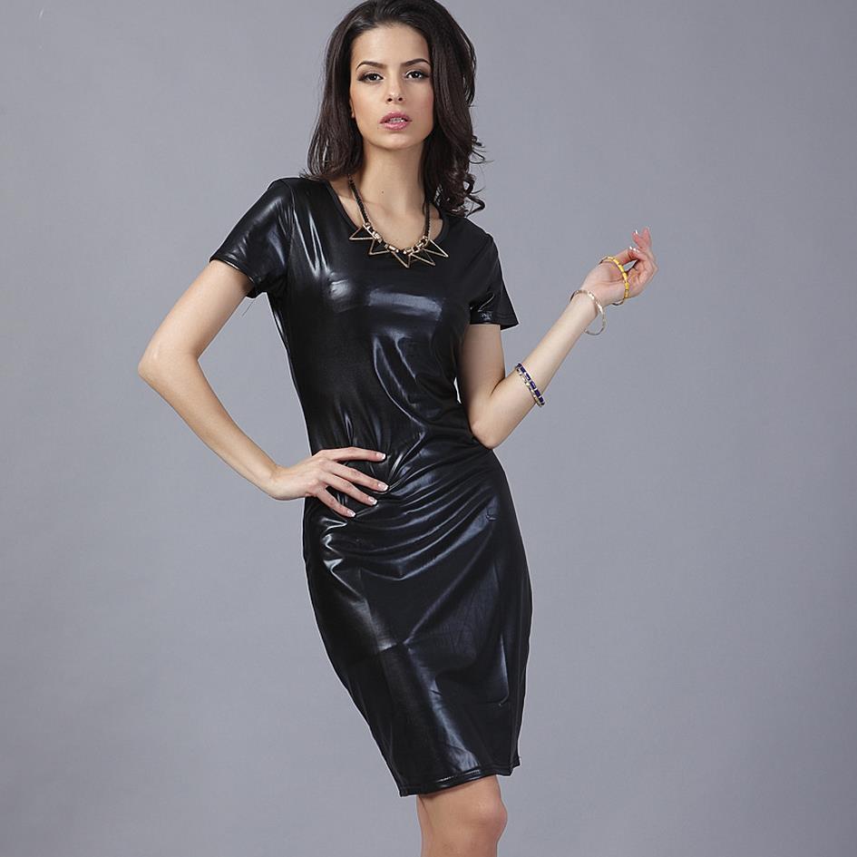 Hot 2017 podzim dámské Celeb O Neck krátký rukáv černé šaty dívka Stretch bodycon šaty po zip šaty velké velikosti S-XXL  t
