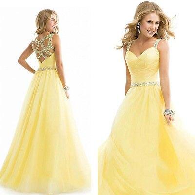 Das mulheres Vestido Formal Longo Partido Ballroom Vestido de Chiffon amarelo vestido de casamento mulher roupas