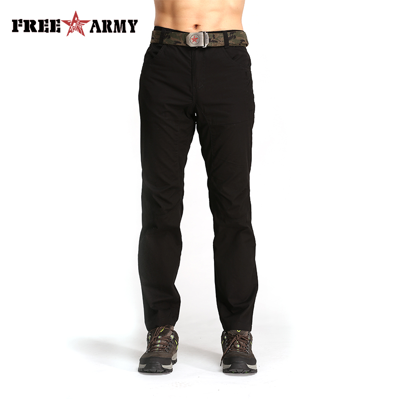 2018 Long Cargo Pants Men Jogger Sweatpants Vintage Casual Cotton Trousers High Quality Simple Solid Black Men Pants New