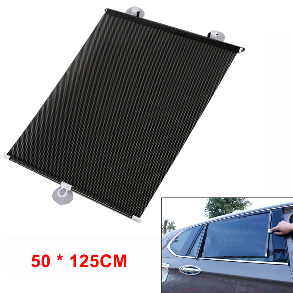 Universal Retractable Car Vehicle Curtain Window Roller Sun Shade Blind Protector (50 * 125CM)
