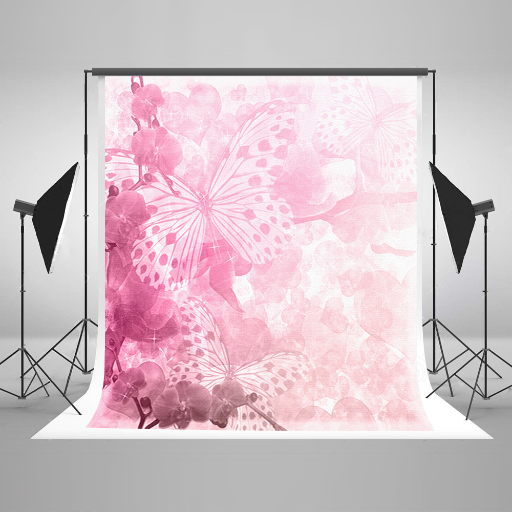 Valentine's Day Photo Background Butterfly Flowers Love Computer Printing Background  Wedding Backdrops for Photographic Studio