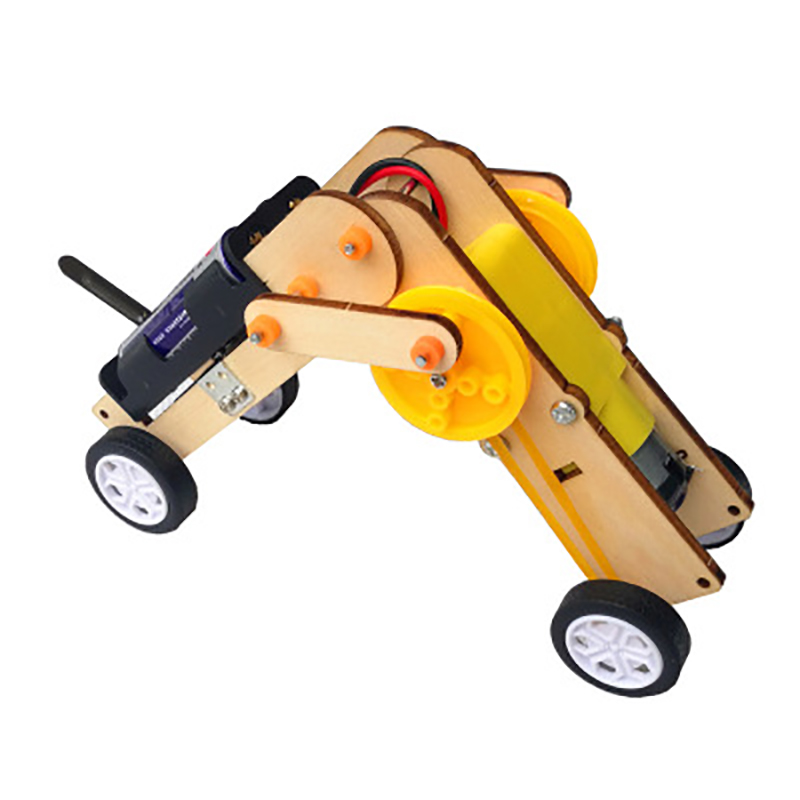 Diecast 1:43 Car Toy Worm Robot Primary School Technology Small Production Invention DIY Kids Boys Toys Wooden Track Models Toy