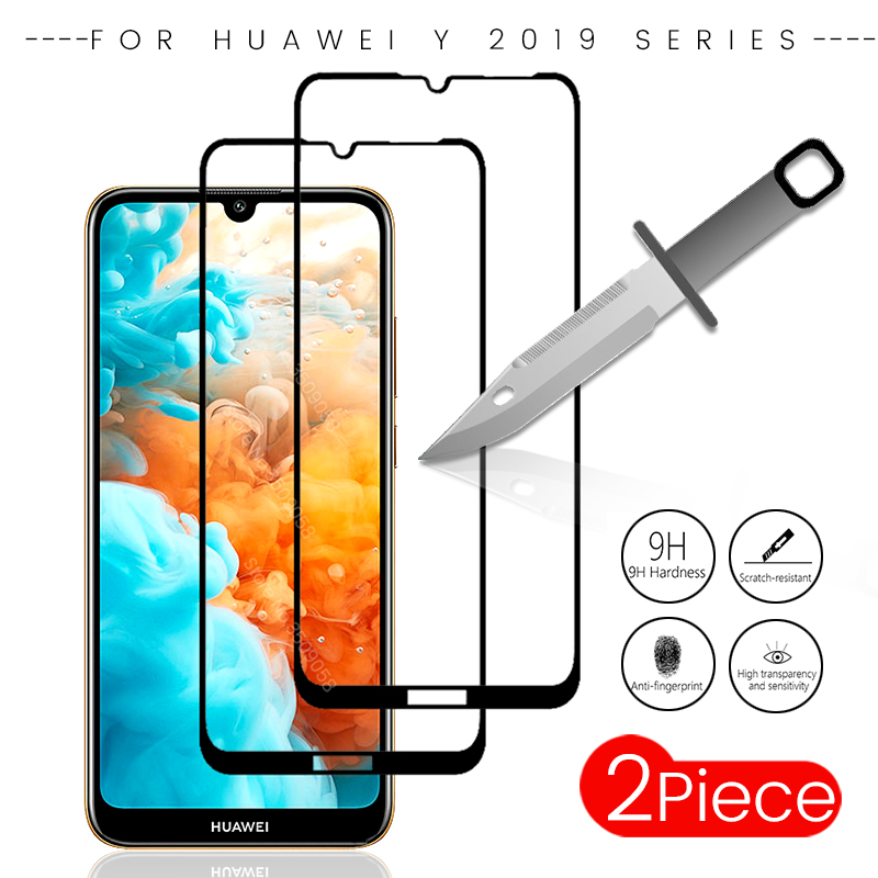 2pcs/pack for huawei y7 2019 tempered glass screen protector for huawei y9 y7 y6 prime pro y5 2019 y 7 6 5 2019 protective film(China)