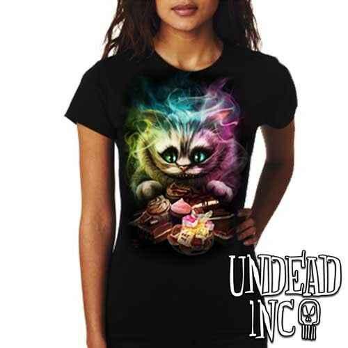 excursionismo lavabo manguera  Alice in Wonderland Tim Burton's Cheshire Cat Ladies T Shirt Men Women  Unisex Fashion tshirt Free Shipping| | - AliExpress